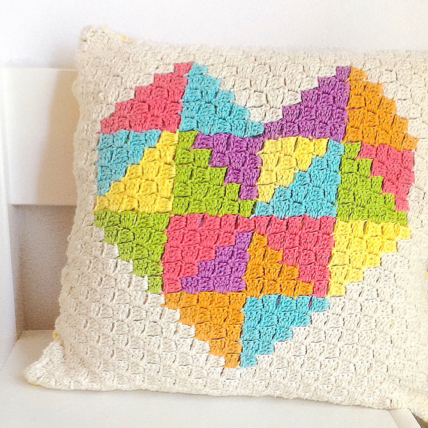 Love Triangle C2c Cushion Crafty Cc
